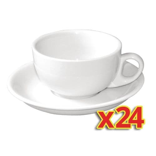 Bulk Buy Pack of 24 Olympia Cappuccino Cup And Saucers Combo